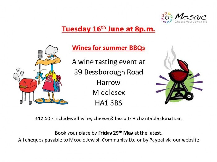 advert for BBQ wines 2015