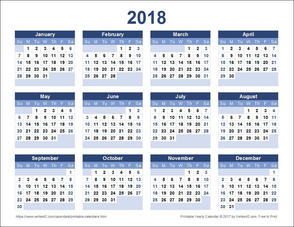 Calendar | Calendar 2018 Mosaic